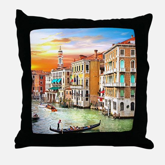 Venice Photo Throw Pillow