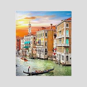 Venice Photo Throw Blanket