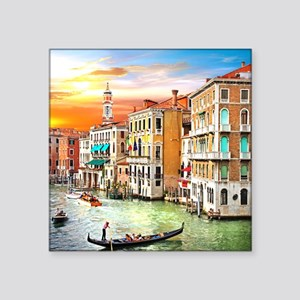 "Venice Photo Square Sticker 3"" x 3"""