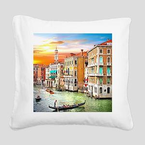 Venice Photo Square Canvas Pillow