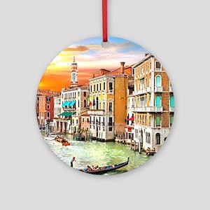 Venice Photo Round Ornament