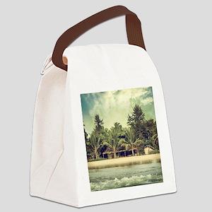 Vintage Beach Photo Canvas Lunch Bag