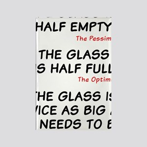 The glass is too big Rectangle Magnet