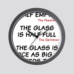 The glass is too big Wall Clock