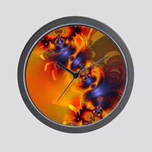 Orange Eyes Aglow Gold  Violet Delight Wall Clock
