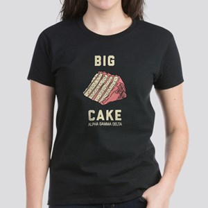 Alpha Gamma Delta Big Cake Women's Dark T-Shirt