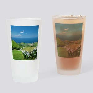 Azores landscape Drinking Glass