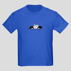 Wee Police Car! Kids Dark T-Shirt