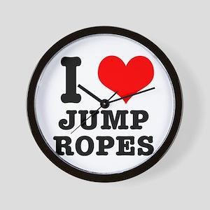 I Heart (Love) Jump Ropes Wall Clock