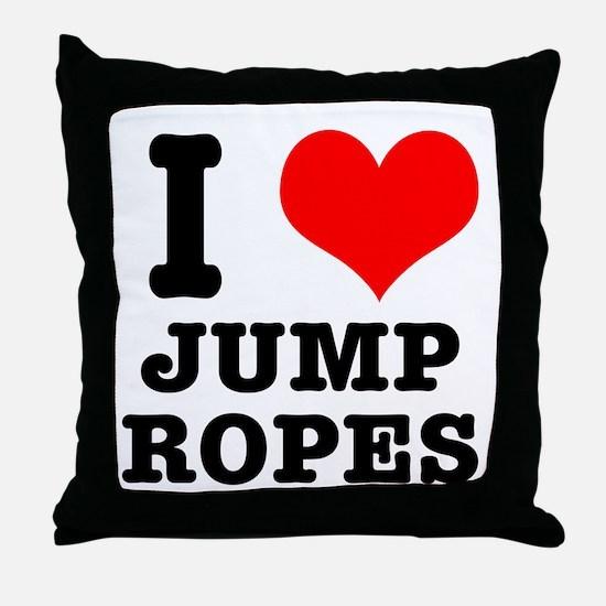 I Heart (Love) Jump Ropes Throw Pillow