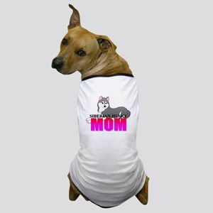 Gray Siberian Husky Mom Dog T-Shirt