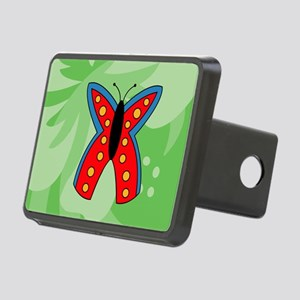 Butterfly Glass Cutting Bo Rectangular Hitch Cover