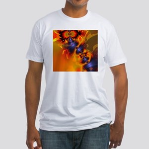Orange Eyes Aglow Fitted T-Shirt