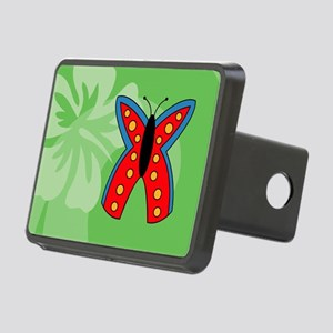 Butterfly Picture Ornament Rectangular Hitch Cover
