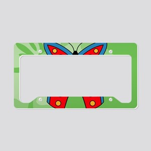 Butterfly Large Serving Tray License Plate Holder