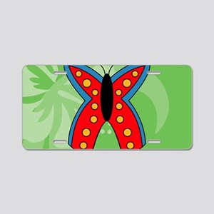 Butterfly Large Serving Tra Aluminum License Plate