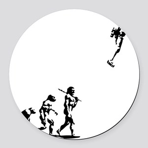 evolution-rocket-LTT Round Car Magnet
