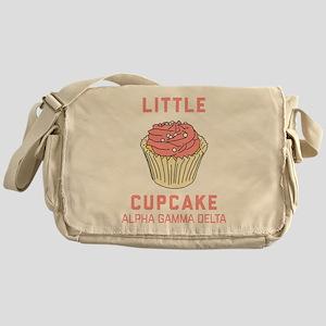 Alpha Gamma Delta Little Cupcake Messenger Bag