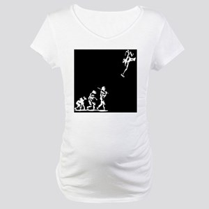 evolution-rocket-PLLO Maternity T-Shirt