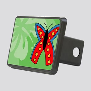 Butterfly Large Luggage Ta Rectangular Hitch Cover