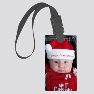 Baby's first Christmas Large Luggage Tag