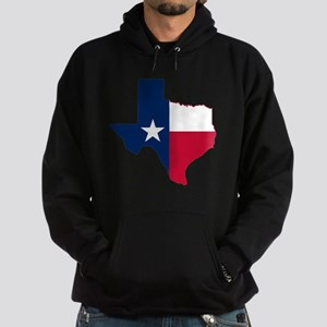 Texas Flag Map Hoodie (dark)