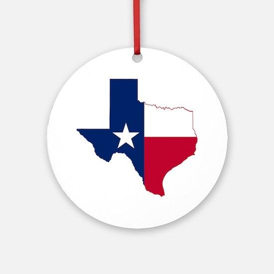 Texas Flag Map Round Ornament