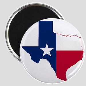 Texas Flag Map Magnet