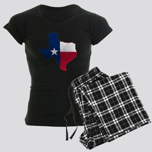 Texas Flag Map Women's Dark Pajamas