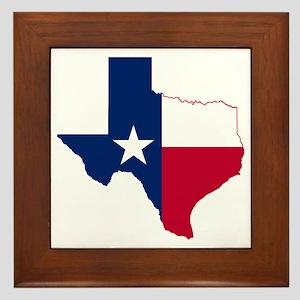 Texas Flag Map Framed Tile