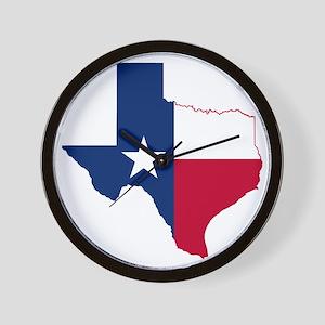 Texas Flag Map Wall Clock
