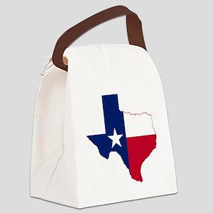 Texas Flag Map Canvas Lunch Bag