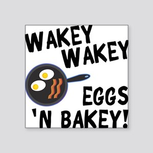 "Bacon And Eggs Square Sticker 3"" x 3"""