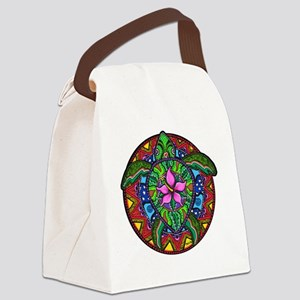 Sea Turtle Painting Canvas Lunch Bag
