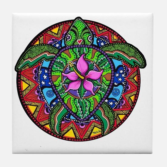 Sea Turtle Painting Tile Coaster