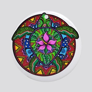 Sea Turtle Painting Round Ornament