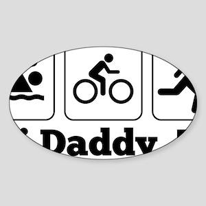 Tri Daddy, Tri Sticker (Oval)