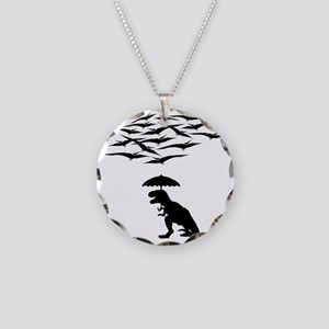 T-Rex vs the Pterodactyls Necklace Circle Charm