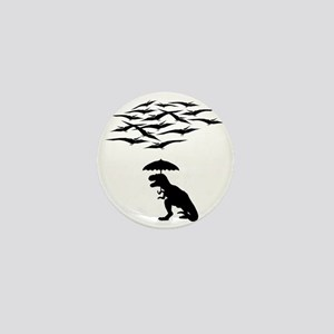T-Rex vs the Pterodactyls Mini Button
