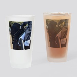 Friesian Sporthorse dressage Drinking Glass