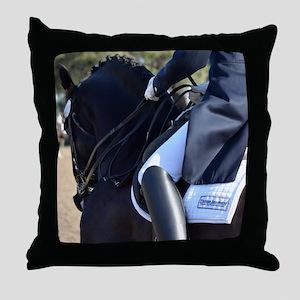 Friesian Sporthorse dressage Throw Pillow