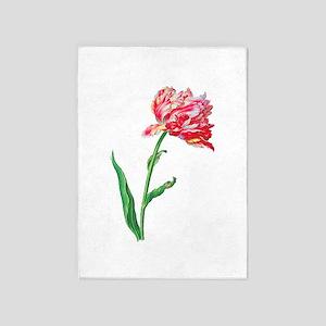 Pierre Joseph Redoute Tulips 5'x7'Area Rug