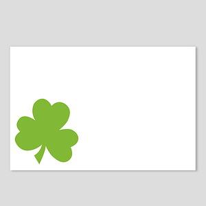 Irish Twin Shamrock Postcards (Package of 8)