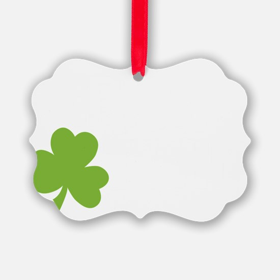 Irish Twin Shamrock Ornament