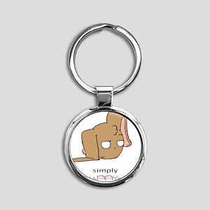 unBUNNYvable Round Keychain