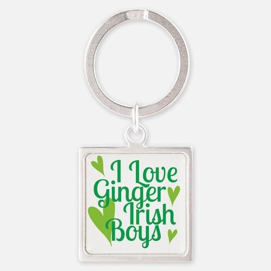 Ginger Irish Boys Square Keychain