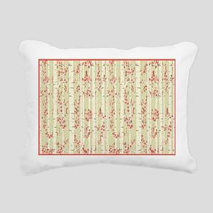 birch trees area rug Rectangular Canvas Pillow