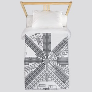 Eastern State Penitentiary Map Twin Duvet