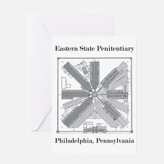 Eastern State Penitentiary Map Greeting Card