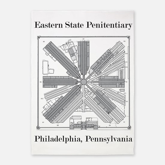 Eastern State Penitentiary Map 5'x7'Area Rug